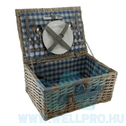Piknik kosár - kétszemélyes, standard white