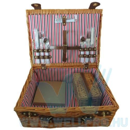 Piknik kosár - kétszemélyes, bögrékkel