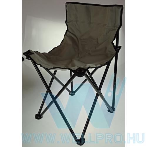 Összecsukható, hordozható campingszék, horgászszék, hordozó táskával